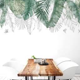 Adesivo de Parede Folhagem vinil: verde / tropical / folhas / árvore / natural