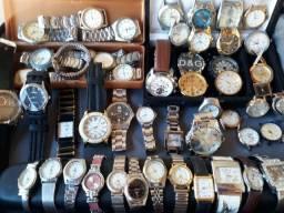 Coleção Relógios diversas marcas e modelos.