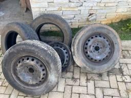 Rodas de ferro aro 16 com pneus