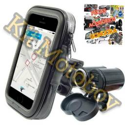 Kit motoboy suporte carregador celular