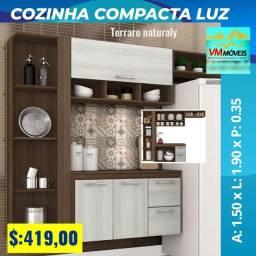 Título do anúncio: Armario Cozinha Compacta Luz