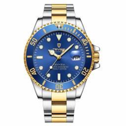 Relógio Automático TEVISE - Azul/Dourado/Prata