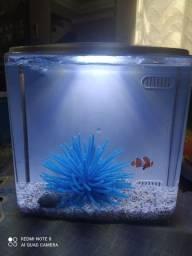 Aquário Marinho completo com Nemo e anemona de silicone !