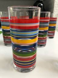 copos longos vidro fino