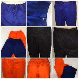 Calça  brim masculino uniforme