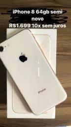 iPhone 8 64gb muito novo 10x sem juros no cartão