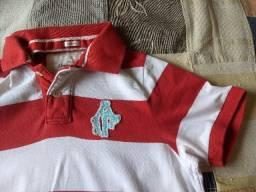 camisa polo abercrombie & fitch vermelha