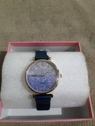 Relógio feminino magnético Azul