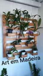 Floreira Art em Madeira decorações