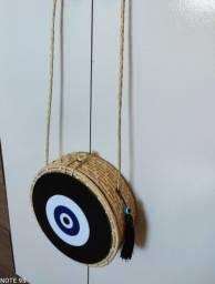 bolsa de palha redonda olho grego