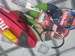 Kit raquete e bolsa de tenis