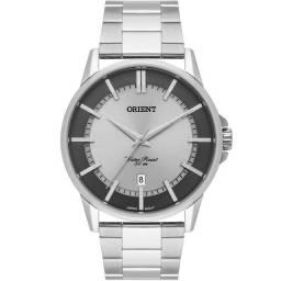 Relógio Orient Masculino Prata Mostrador Prata e Grafite
