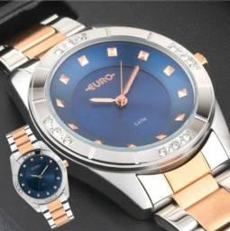 Relógio Euro By Technos Prata/Rose 100% Original Novo Lacrado!