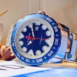 Relógio Naviforce (NF9178) Azul/Prata