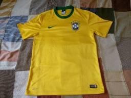camisa seleção brasileira 2014 modelo torcedor