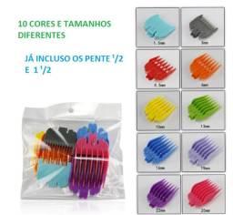 Pente Maquina Cabelo Wahl / Kemei C/ Disfarce - Kit 10 Peças (novo)