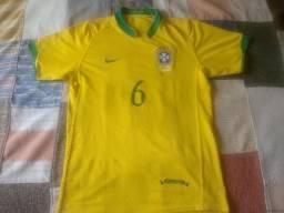 Camisa Seleção Brasileira Roberto Carlos copa do mundo 2006