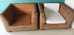 conjunto de sofás ratan asiático