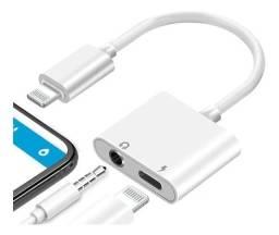 Adaptador 2x1 Apple iPhone Com Saída De Aúdio P2 E Lightning (fazemos entrega)