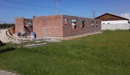 Casa em construção no Parque do Lago