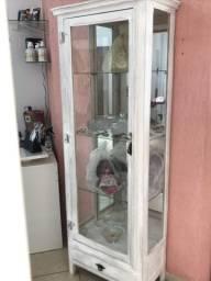 Cristaleira de madeira com espelho!!!