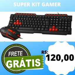Kit Teclado Gamer + Mouse Gamer USB