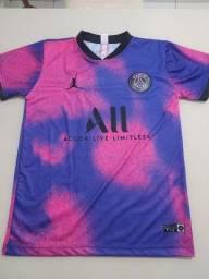 Nova camisa do PSG rosa com rocho a pronta entrega, tamanho M,G,GG