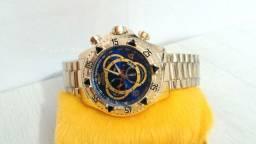 Relógio Invicta Reserve Fundo Azul ou Dourado
