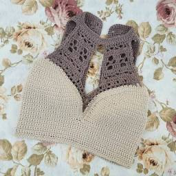 Croped em crochê vários modelos