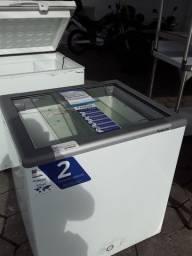 Freezer 216 litros tampa vidro