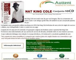 Nat King Cole Conjunto De 10 Discos Cd - contendo 233 músicas, importado novo lacrado