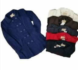 853bc43ef40 Sobretudo de la batida feminino forrado casaco