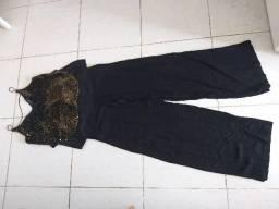 Calça pantalona 36/P + blusa noite P.. tudo lindo!!