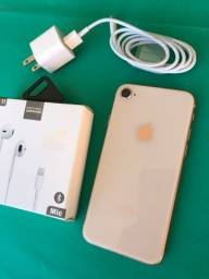 IPhone 8 64GB Gold - excelente estado - completo - novissimo