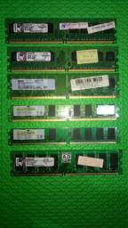 Memórias DDR2 - 512 mb, 1gb e 2 gb (Usadas)