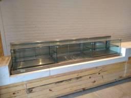 Balcão Vitrine refrigerado e quente dois andares, em Excelente estado e funcionamento