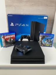 PRÓ - PS4 - 1TB - SEMI NOVO