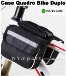 Bolsa Case Quadro de Bicicleta Bike Duplo Preto Em Poliéster