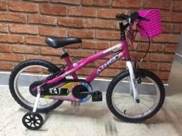 Bicicleta Infantil Aro 16 Baby Girl - Rosa