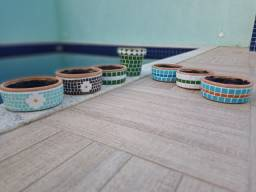 Mosaico em vaso de cerâmica