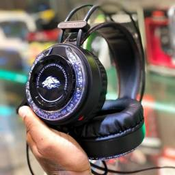 HEADSET GAMER KIRIN COM LED NOVO NA CAIXA
