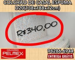 Colchão Pelmex casal D20 1.38x1.88x12cm altura