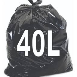 Saco De Lixo 40 Litros Preto C/ 100 unidades.