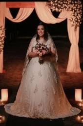 Aluguel vestido de noiva tamanho M