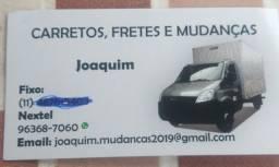 JOAQUIM PAIVA:  FRETES E MUDANCAS!! SÃO PAULO INTERIOR E LITORAL!!!