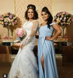 Vestido Azul para Casamento