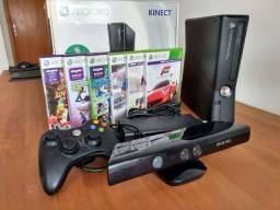 Xbox 360 (250GB) + Kinect + Controle + Jogos