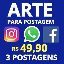 ARTE para POSTAGEM à partir R$9,99