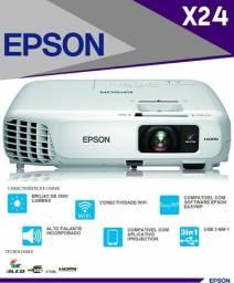 projetor epson x24 3500 lumens hdmi hd 720p