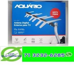 Antena Externa Aquário Dtv-1500 Completa P/ Instalar